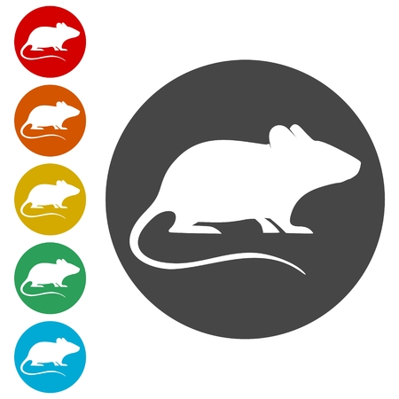 Mouse icons set - vector Illustration 스톡 콘텐츠 - 107392177