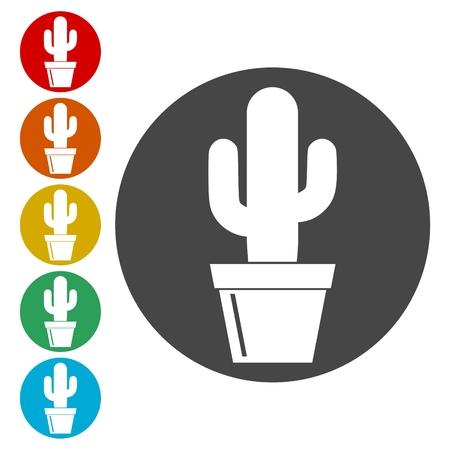 Cactus Collection icons set - Vector Illustration Illusztráció