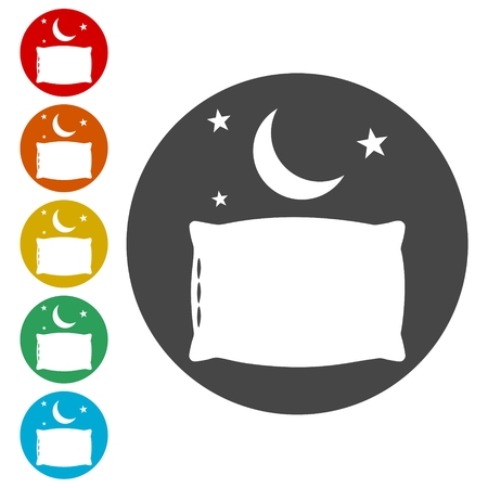 Sleep concept icons set - Illustration