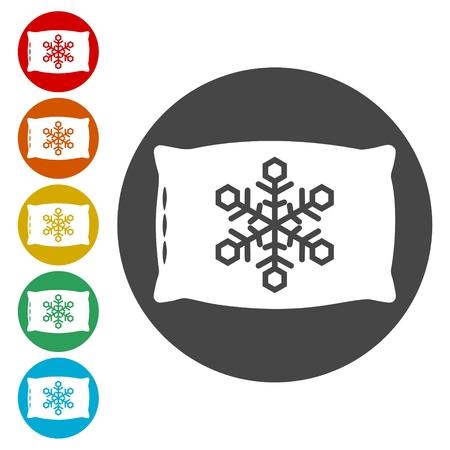 Sleep concept icons set - Illustration