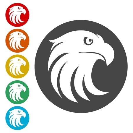 Eagle head icons set - Illustration Illustration