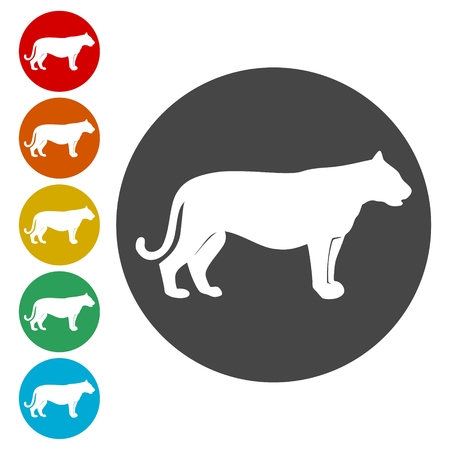 Panther, Cat icon design - Illustration 向量圖像