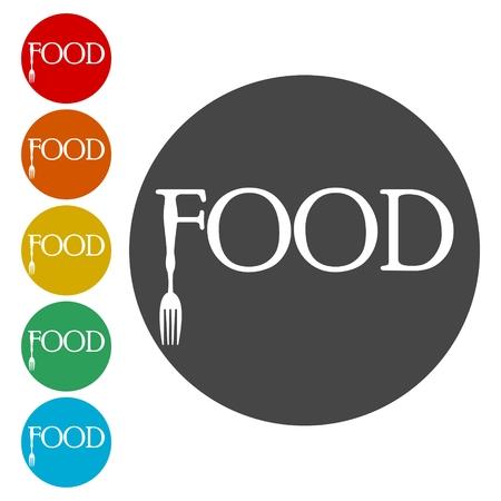 Jeu d'icônes de nourriture - illustration