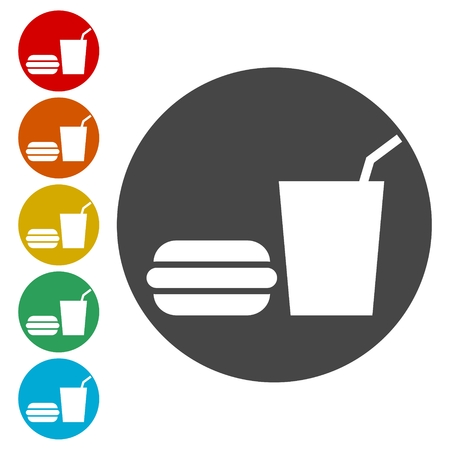 Food and Drink Icons set - Illustration