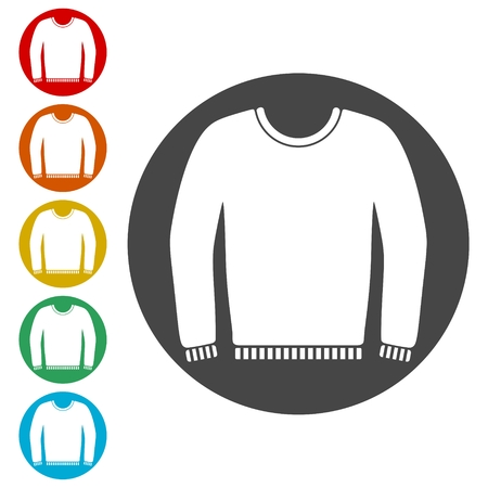 Women sweatshirt icons set - Illustration