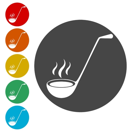 Ladle Icons set Flat Graphic Design - Illustration Illustration