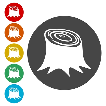 Stump icons set - Illustration Vettoriali