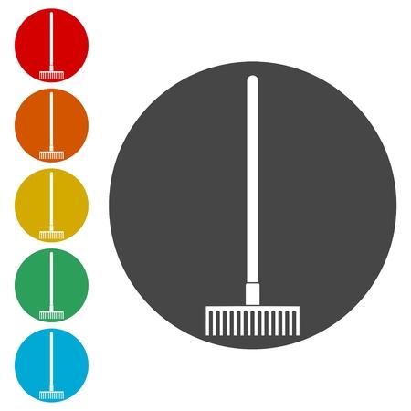 Garden Rake Icons set - Illustration