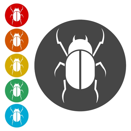 Insect Silhouette icons set - Illustration  イラスト・ベクター素材