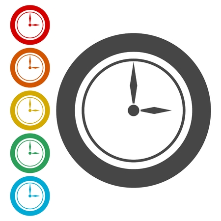 Clock icons set - illustration
