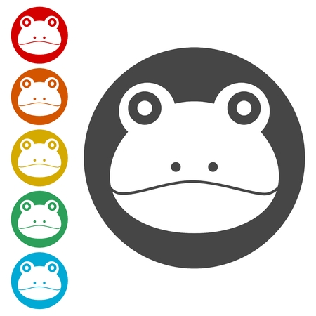 Frog icons set logo - Illustration