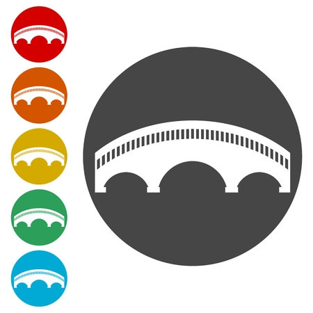 Bridge icons set - vector Illustration Stock Illustratie