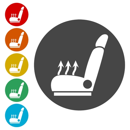Car seat icons set - Vector Illustration Vektorové ilustrace