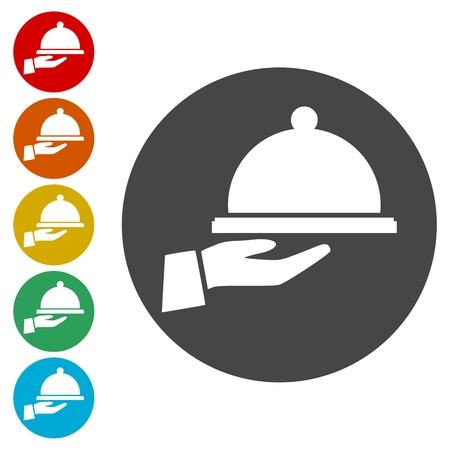 Cooking hand icons set - Illustration Illusztráció