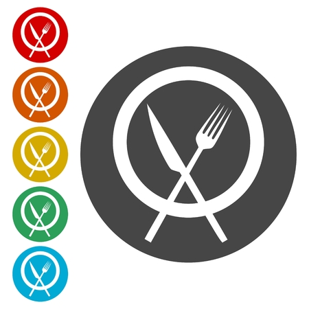 Cutlery Icons - Illustration 版權商用圖片 - 107939527