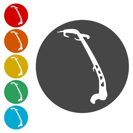 Weed Trimmer Icons set - Illustration Stock Illustratie
