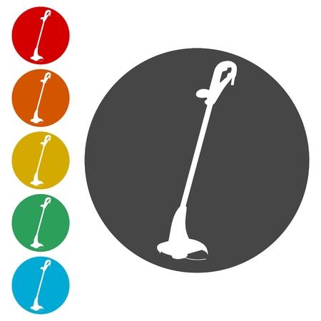 Weed Trimmer Icons set - Illustration Illustration