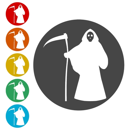 Death icons set - Illustration