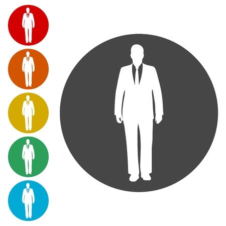 Businessman icons set - Illustration 스톡 콘텐츠 - 108176715