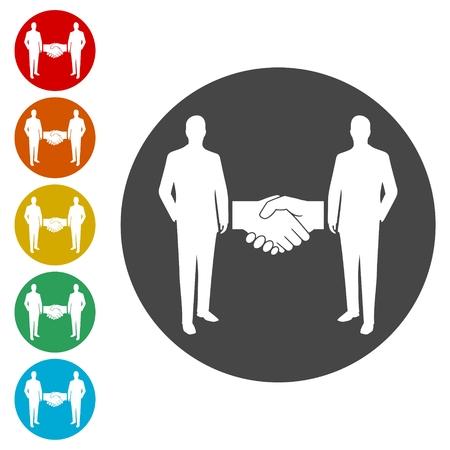 Agreement Icons set - Illustration Vector Illustratie