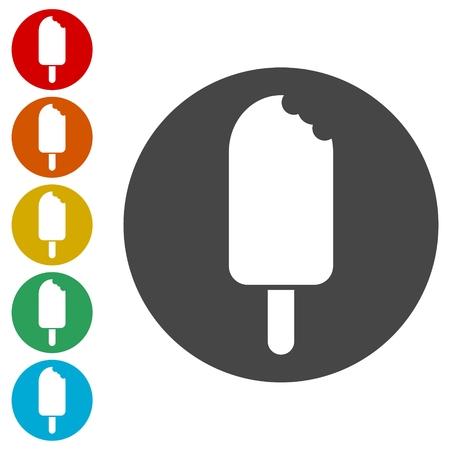 ice cream Icons set - Illustration