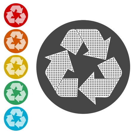 Recycle icons set - Illustration 向量圖像