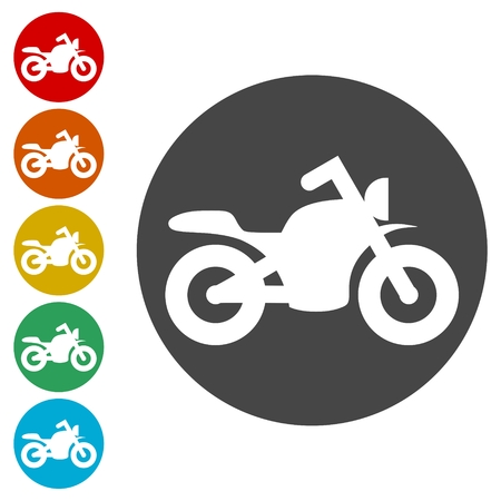 Sport bike icons set illustration Stock fotó - 108367324