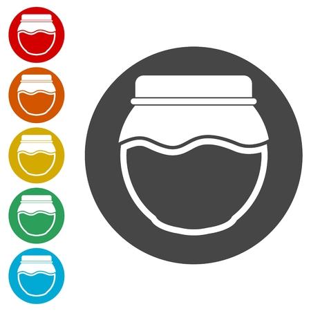 Jam Jar Vector Icons set Illustration