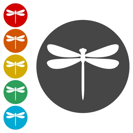 Dragonfly insect vector icons set illustration 일러스트