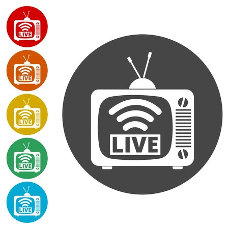 Tv video play live streaming graphic vector illustration