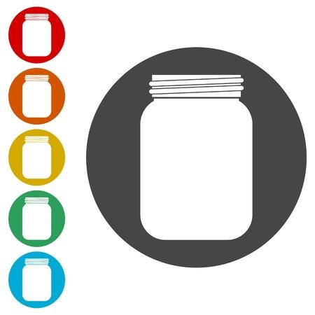 Jam Jar Vector Icons set Illustration Vecteurs