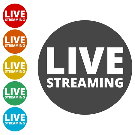 Tv video play live streaming graphic vector illustration Stock Illustratie
