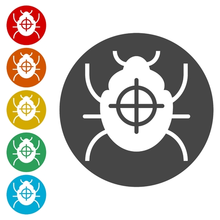 Bug icons set