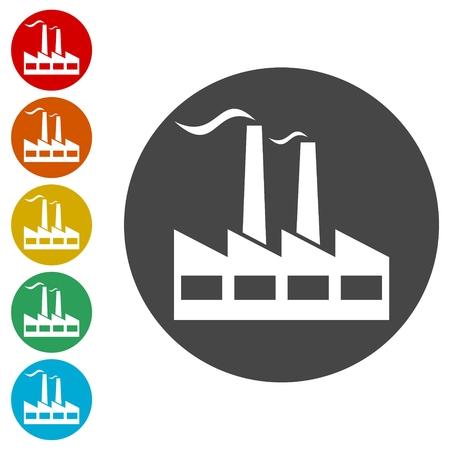 Factory Icon Flat Graphic Design icons set - Illustration