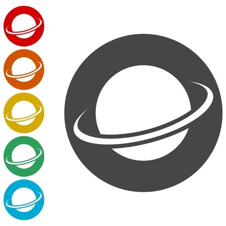 Vector   globe icons set