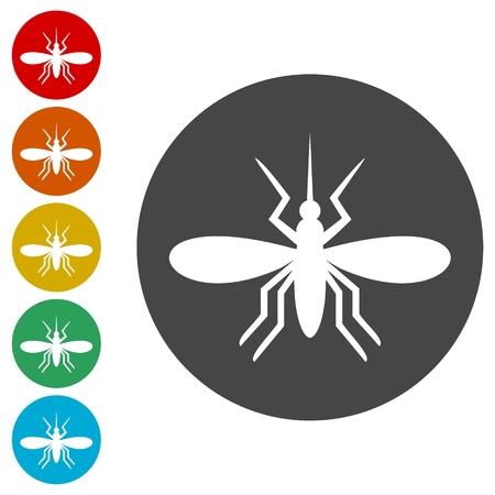 El conjunto de iconos de mosquitos