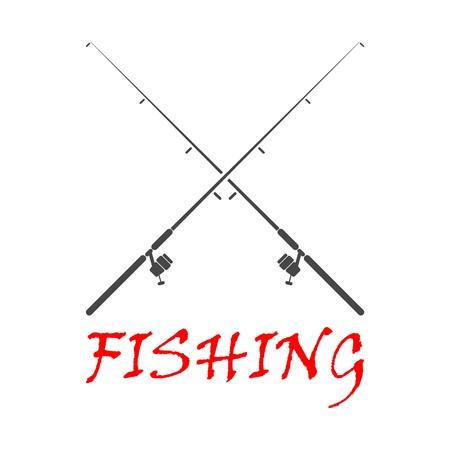 Fishing rod - Illustration Stock Illustratie