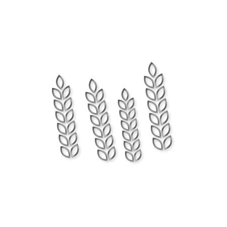 Wheat icon, line icon