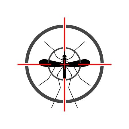 Mosquito target Stock Vector - 109182002
