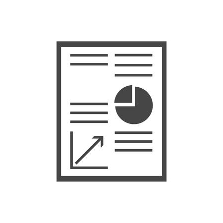 Business Report icon Çizim