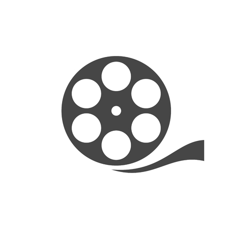 Film reel icon Illustration