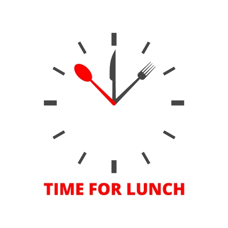 Time For Lunch icon Stock Illustratie