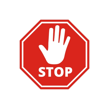 No entry sign, Stop icon Illustration