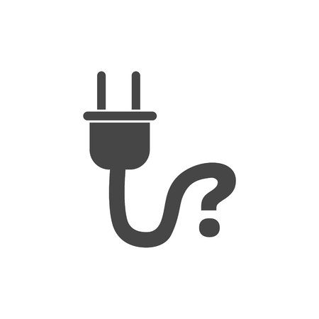 Electric plug sign icon, Power energy symbol