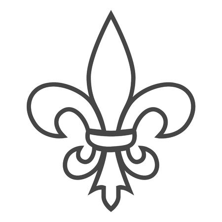 Fleur de lis icon, Fleur-de-lis sign Vettoriali