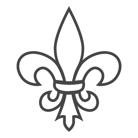 Fleur de lis icon, Fleur-de-lis sign Иллюстрация