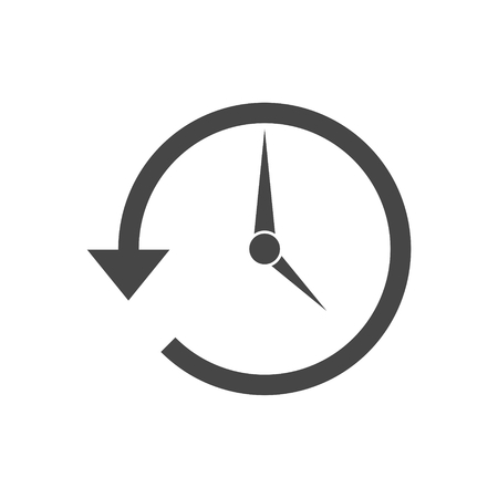 Time back icon, history icon isolated on a white background. Vectores