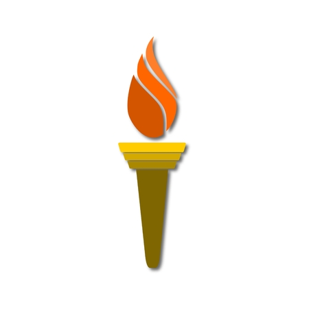 Torch icon isolated on a white background