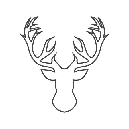 Line deer head, vector illustration Stock Vector - 109622287