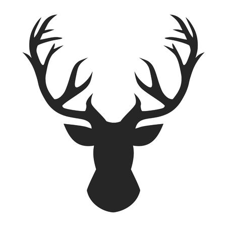 Tête de cerf, illustration vectorielle.